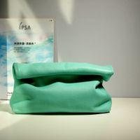 HBP Candy Color Кожаная маленькая группа кошелек личности ленивый повседневная керлинг ручной сумка верхний слой слой коровьей обед женская мягкая сумка зеленый