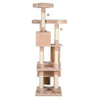 """66"""" сизаля пеньки Cat Tree Tower Condo Мебель Царапины сообщение Pet House Играть Котенок с Кози окуней Бежевый"""