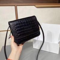 Designer Big Fashion Ladies One-Spalla Borsa Messenger Borsa retrò Retro All-Match Flip Cover PU Leather Letters Borse da partito Femminile Borsa a cinghia larga