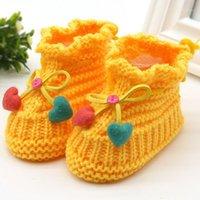 Первые ходунки родились детские шерстяные ботинки младенцы вязание крючком вязаный флис теплые ботинки малыша девушка мальчик шерсть снежная кроватка зимние пинетки 1