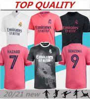 2020 2021 Real Madrid Fussball Jersey Benzema Sergio Ramos Home Auswärts Jersey 20-21 Camiseta de Futbol Modric Hazard Dritter Fußball Hemd