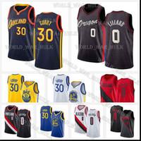 Stephen 30 maillots de curry James 33 Wiseman Golden State Portland Warriors Trail Damian 0 Lillard Blazers Carmelo 00 Anthony 2021 Basketball