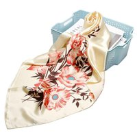 Women' s Fashion Hijab Scarf Beige Flower Print Imitate ...