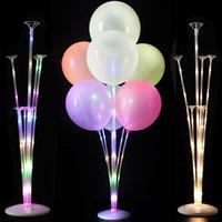 Decoração de festa 1 / 2set LED luz de balão de balão de balão decoração de casamento aniversário crianças adultos evento ballons acessórios