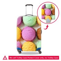 Pretty Womens Travel Trolley Case Equipaje Cubiertas protectoras Bolsa Lady Maleta Protector S M L Tamaño Impresión 3D