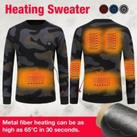 Winter Thermal Sportwear Heated Knitted USB Heating Sweater ...