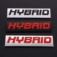 자동차 스티커 하이브리드 로고 3D 금속 엠블럼 배지 데칼 하이브리드 스바루 Honda Grace Toyota Rav4 현대 포르쉐 Lexus Mercedes