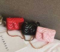 2021 INS Baby Girls Handbag PU letra Niños Metal Single Shoulder Bag Fashion Kids Messenger Bag Girl Designer Mini Bolsas