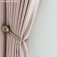 Makehome Milky Touch Чувствием твердые Современные Шторы Для Спальня Гостиная Жалюзи Искусственный Шелковый Занавес Занавес Пользовательские Размер Pannel LJ201224