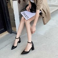 Сандалии Baoyafang 2021 летние кожаные женщины толстые каблуки модные туфли женщины женские горнолыжные ремешка узаконенный носок