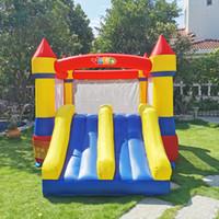 Jardim de perfuração de perfuração Nylon Residential Infligable Bouncer Jump Jumper Casa Jumper Bouncy Castelo Corrediça Combo Com Blower