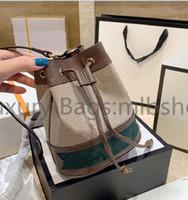 Yüksek Kalite Luxurys Çanta Tasarımcılar Moda Bayan Crossbody Tuval Baskılı Çanta Bayanlar Omuz Çantası Çanta 2021 Mini Kova Çapraz Vücut Cüzdan Çanta