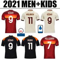 تايلاند Dzeko Perotti Pastore Zaniolo Soccer Jersey روما 2021 Totti Jersey 20 21 كرة القدم كيت قميص دي روسي 2020 رجالي + أطفال
