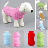 Autunno inverno inverno pet maglioni moda tinta unita a maglia pet abbigliamento teddy bulldog schnauzer piccolo cane vestiti abbigliamento HH9-3330