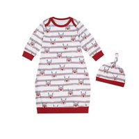 Toddler Infant Baby Girl Boy Sleepwear Robes Set Hat 2PCs Sp...