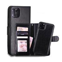 Telefon Kılıfı Deri Cüzdan Durumda Manyetik 2in1 Çıkarılabilir Kapak Kılıfları iphone 11 Pro XS Max 7 8 Samsung Note10 S10 Artı