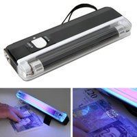 100 teile / los 2 in 1 UV schwarz Licht ultraviolett Desinfektionslampe Handheld-Fackel tragbar gefälschter Geld-ID-Detektor-Lampe Lights Tools Tool