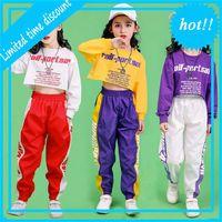 Мода Детский джазовый костюм для хип-хопа Улица Танцы Топы Брук Девушки набор детей спектакль танцевальная одежда