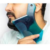 Neues innovatives Design Bartformung Werkzeug Trimmwurzeln Shaper Template Guide für Rasur oder Schablone mit voller Kamm für Jllgoq