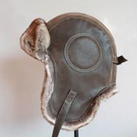 Inverno Ushanka Cappello da uomo Pilota da donna Aviator Bomber Trapper Hat Faux Pelliccia in pelle di pelliccia della neve con lembi dell'orecchio Y200110