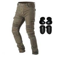 2021 Nova Atualização Motocicleta de Calças de Jeans Pantalons para Homens Motocross Corrida Calças de Armadura com Destacável CE Certified Knee Hip Protector B4A5