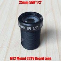"""Lente 5MP 1/2 """"25 mm M12 F2.4 Tablero de CCTV sensible al IR Monte MTV para 960P 1080P 2MP 3MP 4MP 5 Megapixel analógico IP cámara por Excelax1"""