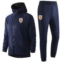 2020 Romanya milli takım futbol Hoodie Kazak Eşofman kış mens Setleri Koşu gündelik spor kapüşonlu antrenman spor takım elbise ayarlar