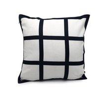 9 Panel Yastık Kılıfı Süblimasyon Boş Yastık Kapak Yeni Gelmesi Polyester Yastık Sıcak Transfer Baskı DIY Kişiselleştirilmiş Hediye 40 * 40 cm W57