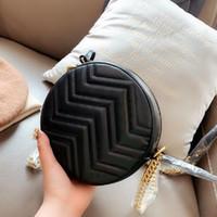 Lüks Tasarımcılar Çember Crossbody Çanta 2020 Sıcak Satış Bayan Orijinal Marka Moda Kahverengi Hakiki Deri Yuvarlak Çanta Çantalar Omuz Çantaları