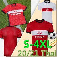 2020 2021 FC سبارتاك موسكو 4XL لكرة القدم الفانيلة المنزل الأحمر برادات Bakaev Zobnin Schürrle Dzhikiya قميص بعيدا أبيض الرجال كرة القدم زي التايلاندية