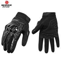 ScoyCo Motorcycle Handschoenen Lederen Mannen Dames Ademend Moto Handschoenen voor Motocross Racing Racing Motorbike Handschoenen Touchscreen 201021