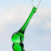 2 5 10 stücke los 80mm Glas Regentropfen Kristall Anhänger Kronleuchter Kristalle Zubehör Home Decor Lampenteil Hangende Verzierung H JLLQKB