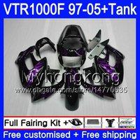 Cuerpo + tanque para Honda Superhawk VTR1000F 97 98 99 00 01 Purple Llamas 05 56HM.77 VTR1000 F VTR 1000 F 1000F 1997 1998 1999 2000 2001 Failes