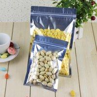 Paketi Bag Packaging 14 * 20cm Alüminyum Folyo / Temizle Açılıp kapanabilir Vana Fermuar Plastik Parti, Kilit Kilitli Poşet Perakende Paketi Zip