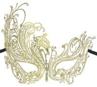 FUNPA красивая металлическая маска для женщин филигранная венецианская маскарадная маска с стразами для вечеричных декора бесплатная доставка1