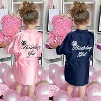 Pigiama Bambini Robe Satin Bambini Estate Kimono Bagno Robina Bridesmaid Birthday Girl Abito Dress Silk Girls Accappatoio Camicia da notte Robe # Y201