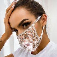 Блестящий горный хрусталь жемчужный лицевой маска для лица унисекс маска горный хрусталь Prom Prade Body ювелирные изделия косплей декор Party подарок 201026
