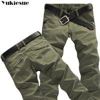 Erkek Kış Pantolon Kalın Sıcak Kargo Pantolon Rahat Polar Pockets Kürk Pantolon Artı Boyutu 38 40 Moda Gevşek Baggy Joger Çalışan Erkek Y200114