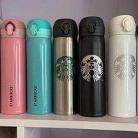 Fabrika Fiyat 400-500 ml Starbucks Termos Kupası Vakum Şişeler Termos Paslanmaz Çelik Yalıtımlı Termos Kupası Kahve Kupa Hediye Ürünler
