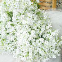 (60 adet / grup) Yeni Varış Kumaş Gypsophila Bebek Nefes Yapay İpek Çiçekler Ev Yaşam Düğün Dekorasyon Için