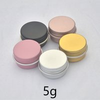 5g Svuotare alluminio vaso Lip Balm cosmetico di trucco Miele Crema bottiglia riutilizzabile Piccolo contenitori in metallo in oro rosa Argento Rosa 5ml