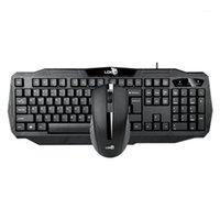 Teclado Mouse Combos -Ldkai 1901 e Set, USB Laptop Universal Office Business Wired Set1