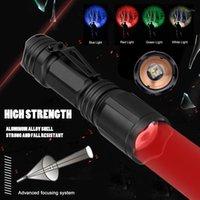 Lanternas Tochas Caça 4 Cor em 1 Multi-cor Branco / Verde / Vermelho / Azul Tocha de Alumínio Tocador Tático para 18650 Battery1