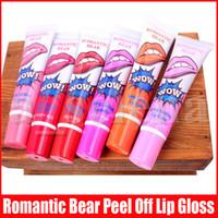 Romantischer Bär Lipgloss Long Lasting Lip Color magische Farbe Reiß Pull Lippe zweite Generation Make-up Magie Lippenstift Glanz 6 Farben