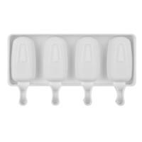 Food Safe Silicone Helic Crean Molds 4 Celular Congelado Hielo Cubo Moldes Popsicle Maker DIY Homemade Congelador Lolly Molde con Gratis