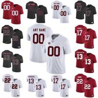 Männer Frauen Jugendliche Individuelle Alabama Crimson Tide College Football Jersey 24 Brian Robinson Jr. 32 Dylan Moses 4 Jerry Jeudy 44 Forrest Gump Kinder