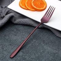 Forchetta in acciaio inox Hotel Ristorante Titanium Plating Durevole Sette forchette colorate Cucina Insalata Uso Stoviglie Creativo 4 5BS L1