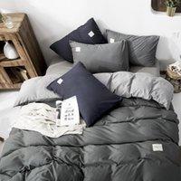 Nova Chegada Home Textil Classical Dupla Side Bed Lineings Estilo Conceito Conjunto de Cama de Quilt Capa Fronha Capa 4 pcs / Set