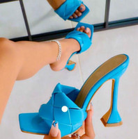 2021 verão novo design weave quadrado toe saltos de alta qualidade estilo estranho estilo chinelos gladiator womens sandal slides sapatos
