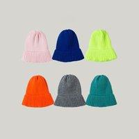 lana lavoro a maglia cappello casuale delle donne versatile inverno dolce e bella cappello caldo esterno strada frangivento cappello maschile 11 colori T3I51252